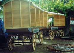 Wooden market vehicles, built new by The Wheelwright Shop, Wairarapa, New Zealand